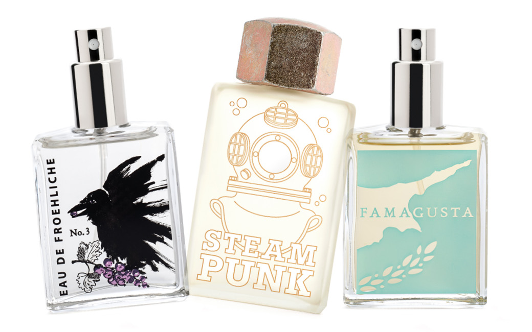 Packaging für Erik Kormann, Eau de Froehliche, STEAM PUNK, Famagusta